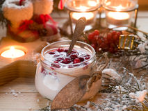 Postre del yogur imagen de archivo libre de regalías