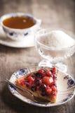 Postre delicioso de la tarta de la fruta Fotografía de archivo