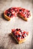 Postre delicioso de la tarta de la fruta Foto de archivo