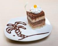 Postre delicioso de la torta .sweet Imagen de archivo
