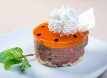 Postre delicioso de la torta .sweet. Fotos de archivo