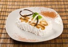 Postre delicioso de la torta .sweet de la fruta. Fotos de archivo