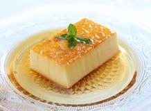 Postre delicioso del caramelo de nata Foto de archivo libre de regalías