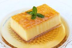 Postre delicioso del caramelo de nata Imagen de archivo