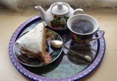 Postre delicioso para el té foto de archivo libre de regalías