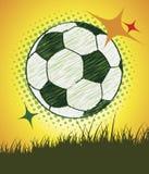 Postre do futebol Imagens de Stock