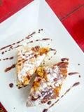 Postre dulce del queso Foto de archivo libre de regalías