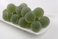 Postre dulce del verde de la fruta del sabor de la jalea Foto de archivo libre de regalías