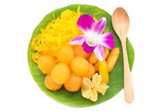 Postre dulce tailandés Imagenes de archivo