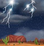Postre durante escena de la tormenta libre illustration