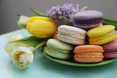 Postre francés delicioso: macarrones hechos en casa Imagen de archivo