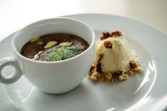 Postre helado del chocolate Fotos de archivo