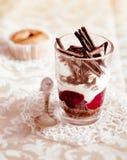 Postre helado gastrónomo de la fruta y del chocolate Fotografía de archivo libre de regalías