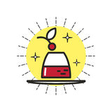 Postre linear del icono stock de ilustración