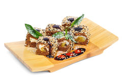 Postre Maki Sushi Set foto de archivo libre de regalías