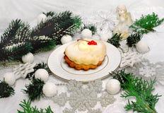 Postre para la Navidad Foto de archivo libre de regalías