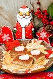 Postre para la Navidad Foto de archivo