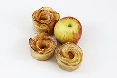 Postre para las tartas de manzanas de Rosh HaShana con la manzana Imagen de archivo