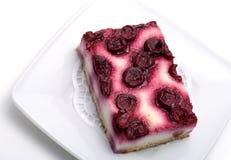Postre - pastel de queso de la cereza Fotografía de archivo libre de regalías