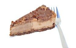 Postre - pastel de queso delicioso con el chocolate fotografía de archivo