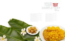 Postre tailandés o dulces tailandeses Imágenes de archivo libres de regalías