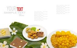 Postre tailandés o dulces tailandeses Imagen de archivo libre de regalías