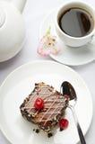 Postre y café dulces Imagen de archivo libre de regalías