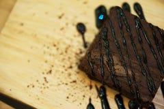Postres de Brownie Delicious Fotografía de archivo