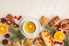Postres del panforte de los países diferentes, galletas de la Navidad y imagen de archivo