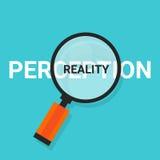 Postrzeganie rzeczywistość powiększa znalezisko prawdę Fotografia Stock