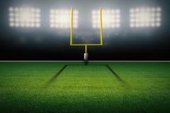 Posts americanos de la meta del campo de fútbol ilustración del vector