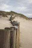 Posts on beach Royalty Free Stock Images