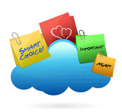 Posts Cloud computing concept Stock Image
