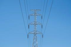 Posts de alto voltaje Imagen de archivo libre de regalías