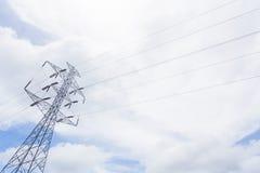 Posts de alto voltaje Fotografía de archivo