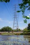 Posts de alto voltaje del poder Fotografía de archivo