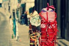 Posts de la calle en Lisboa, Portugal Imagen de archivo libre de regalías