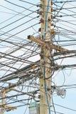 Posts de la electricidad Fotos de archivo