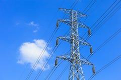 Posts de la electricidad Imágenes de archivo libres de regalías