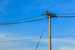 Posts de la electricidad Fotos de archivo libres de regalías