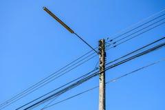 Posts de la electricidad Fotografía de archivo