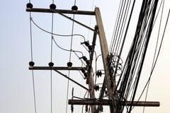 Posts de la electricidad Foto de archivo libre de regalías