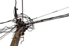 Posts de la electricidad imagen de archivo libre de regalías