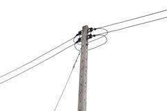 Posts de la electricidad aislados Imagen de archivo