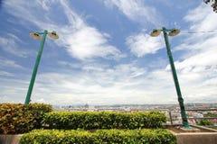 Posts de la lámpara con el cielo Fotografía de archivo libre de regalías