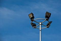 Posts de la luz del deporte en fondo hermoso del cielo Imágenes de archivo libres de regalías
