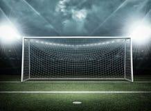 Posts de la meta, concepto del fútbol Fotos de archivo libres de regalías