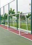 Posts de la meta en corte futsal. Foto de archivo