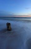 Posts de la playa Fotografía de archivo