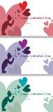 Posts de los corazones de la burbuja/tarjeta de felicitación Foto de archivo